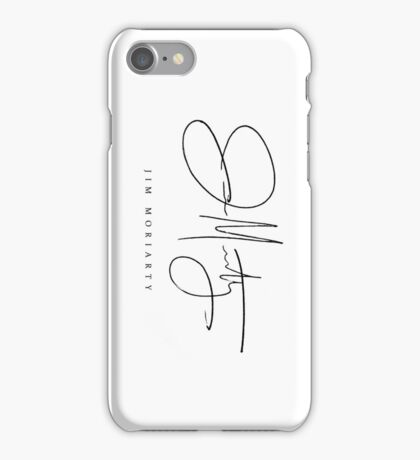 Jim Moriarty [Sherlock Signature Series] iPhone Case/Skin