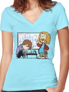 Pied Piper's Peanuts Women's Fitted V-Neck T-Shirt