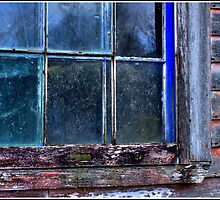 Half Window Colors in an Abandoned Building by Wayne King