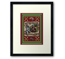 The Mind is the Key to the Heart (crimson)  Framed Print