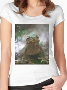 A Frog Day Women's Fitted Scoop T-Shirt