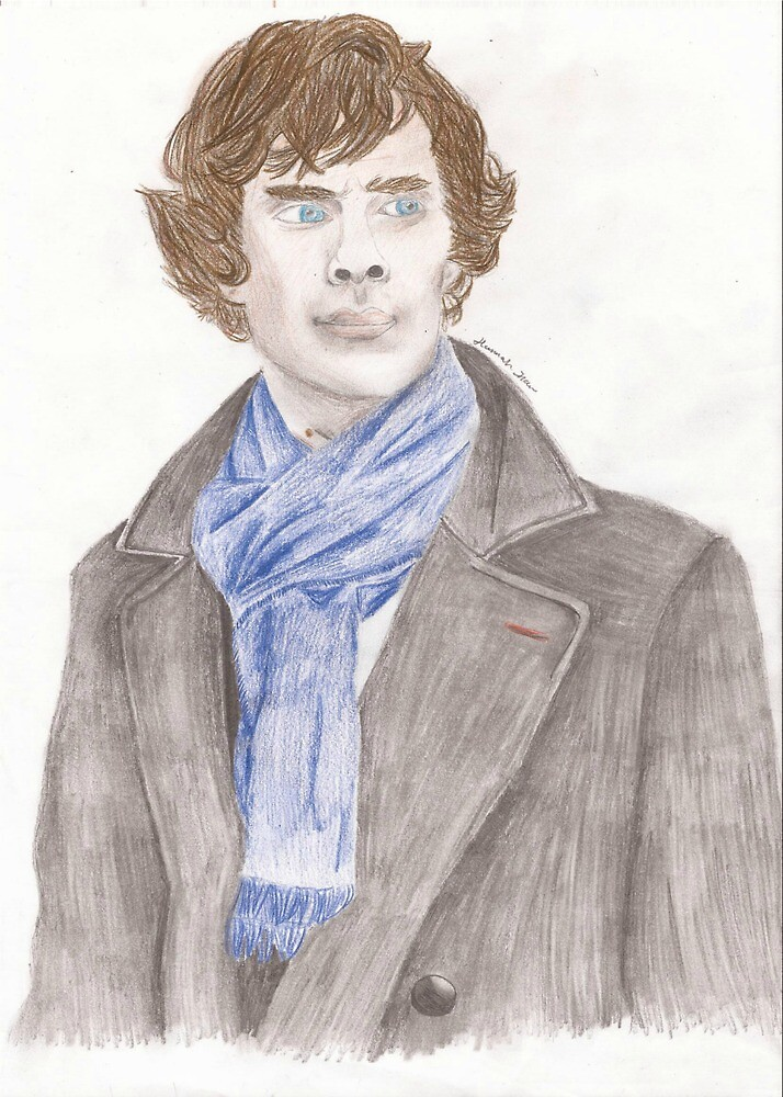 Benedict Cumberbatch - Sherlock by Wiemaynia