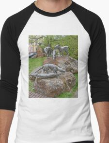 Thylacine Sculpture Men's Baseball ¾ T-Shirt