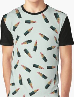 Scattered Lipsticks Graphic T-Shirt