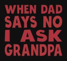 I Ask Grandpa Kids Tee