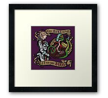The Mind is the Key to the Heart (royal purple) Framed Print