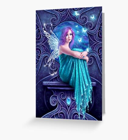Astraea Fairy with Butterflies Greeting Card