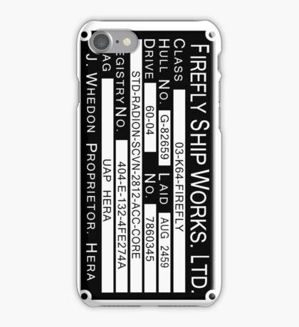 Firefly Ship Works Ltd. Sticker iPhone Case/Skin
