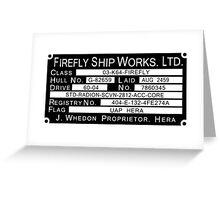 Firefly Ship Works Ltd. Sticker Greeting Card