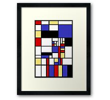 Mondrian's cat Framed Print