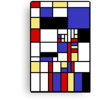 Mondrian's cat Canvas Print