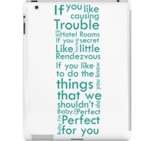 One Direction Perfect Quote iPad Case/Skin