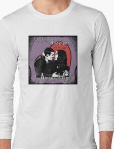 """""""Un Fou, Passionné, l'Amour Vrai!""""- One Crazy, Passionate, True Love! (purple) Long Sleeve T-Shirt"""
