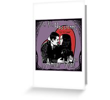 """Un Fou, Passionné, l'Amour Vrai!""- One Crazy, Passionate, True Love! (purple) Greeting Card"