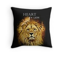 Lion Heart Throw Pillow