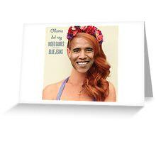 Obama Del Rey Greeting Card