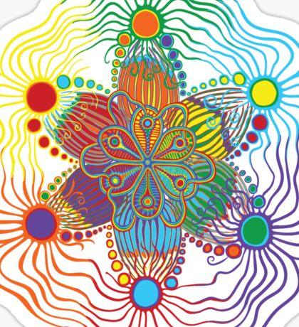 Six Color Red-Orange-Yellow-Green-Blue-Purple Sticker