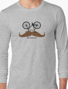 Hipster Bike Mustache  Long Sleeve T-Shirt