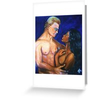 Interracial Lovers III Greeting Card