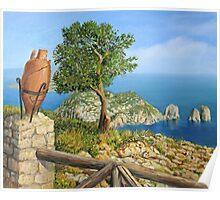 Monte Solaro on island Capri Poster