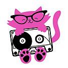 Cassette Kitten Sticker by Amy Grace