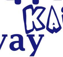 Yippie Kai Yay | Blue Tee Sticker