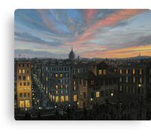 Rome in The Light of Sunset Canvas Print