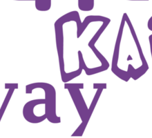 Yippie Kai Yay | Purple Tee Sticker