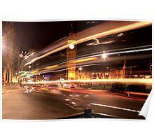 London - Big Ben Through a Double Decker  Poster