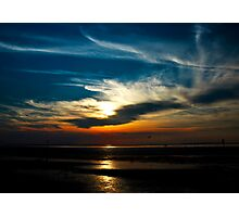 Sunset at the seaside, Hunstanton, Norfolk, United Kingdom Photographic Print