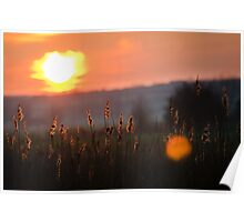 River Ouse Sunset, Emberton, UK Poster