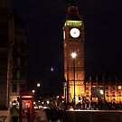 London - Big Ben & A Telephone Booth by rsangsterkelly