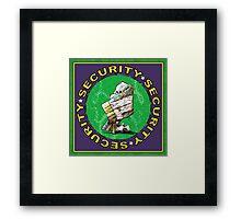 Bear & Blanket Security Services (1) Framed Print