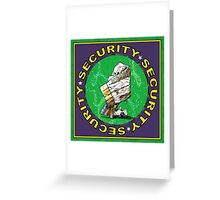 Bear & Blanket Security Services (1) Greeting Card