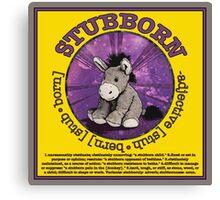 Stubborn Donkey Plush (yellow)  Canvas Print