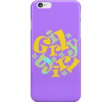 girly girl in yellow iPhone Case/Skin