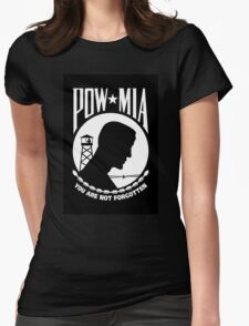 POW MIA Womens Fitted T-Shirt