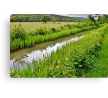 Glynneath Canal Canvas Print