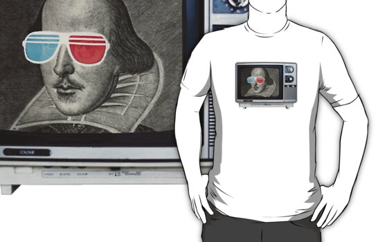 Shakespeare 3D T.V. by Hal Furness