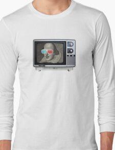 Shakespeare 3D T.V. Long Sleeve T-Shirt