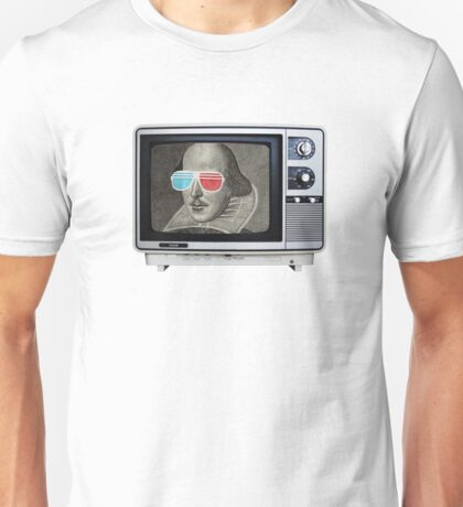 Shakespeare 3D T.V. Unisex T-Shirt