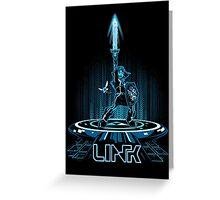 LINKTRON - Blue Variant Greeting Card