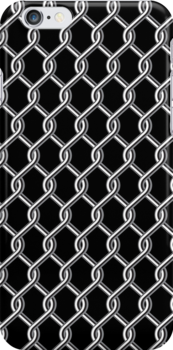 Chain Fence iPhone 4 Case by CroDesign