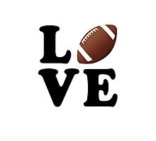 Love Football Photographic Print