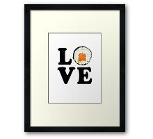 Love Sushi Framed Print