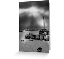 A Light From Above Greeting Card