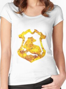 Hufflepuff House Crest Women's Fitted Scoop T-Shirt