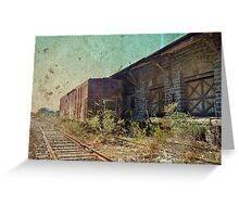 Disappearing Railroad Blues Greeting Card