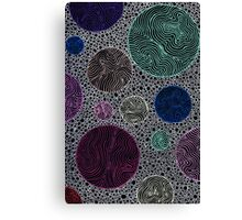 Abstract circles & lines doodle Canvas Print