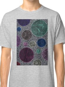 Abstract circles & lines doodle Classic T-Shirt